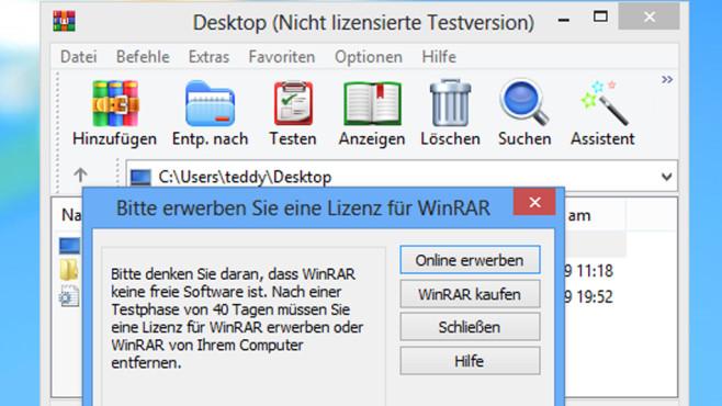 Winrar Langer Als 40 Tage Nutzen Legal Computer Bild