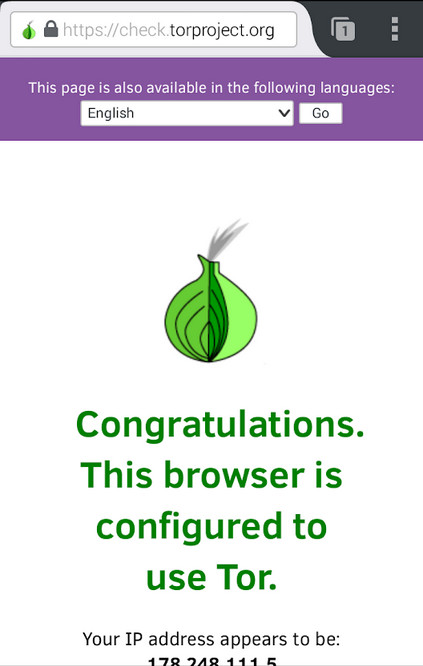 Screenshot 1 - Orfox (Android-App)