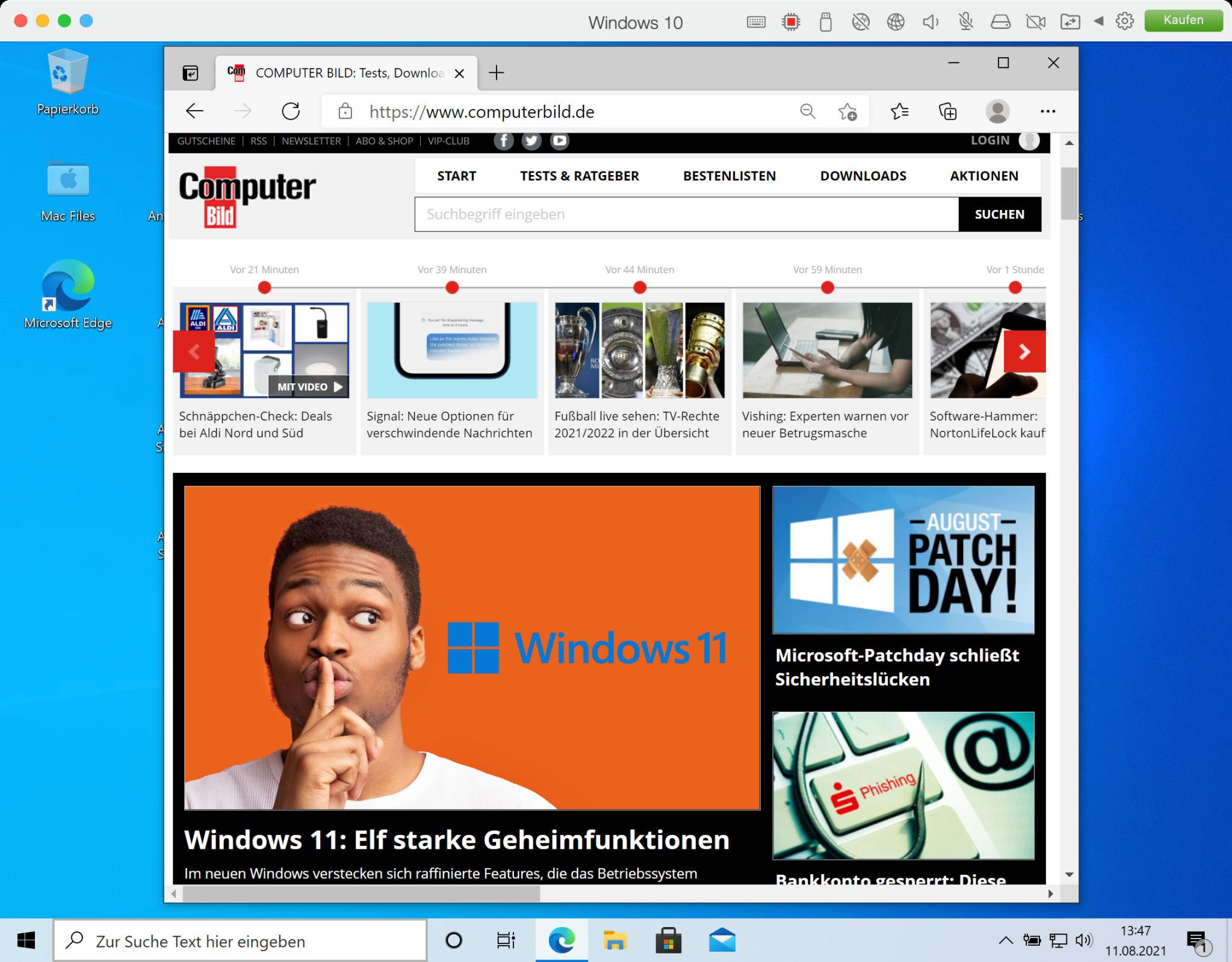 Screenshot 1 - Parallels Desktop (Mac)