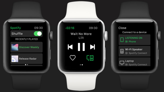 Spotify auf der Apple Watch©Spotify