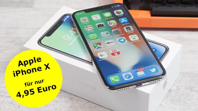 8847b10ea3 696 Euro Rabatt: Apple iPhone X bei Sparhandy - COMPUTER BILD