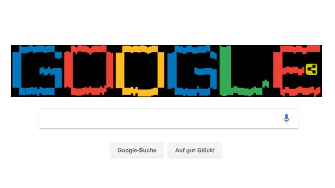 Google Doodle: Arecibo-Botschaft©Google