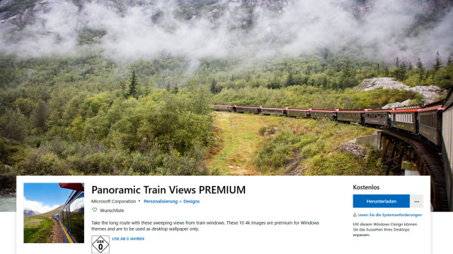 Windows-Wallpaper: Panoramic Train Views©Microsoft