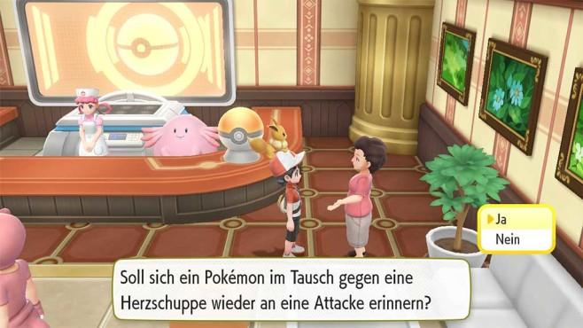 Pokémon – Let's Go: Attacke erneut erlernen©COMPUTER BILD SPIELE