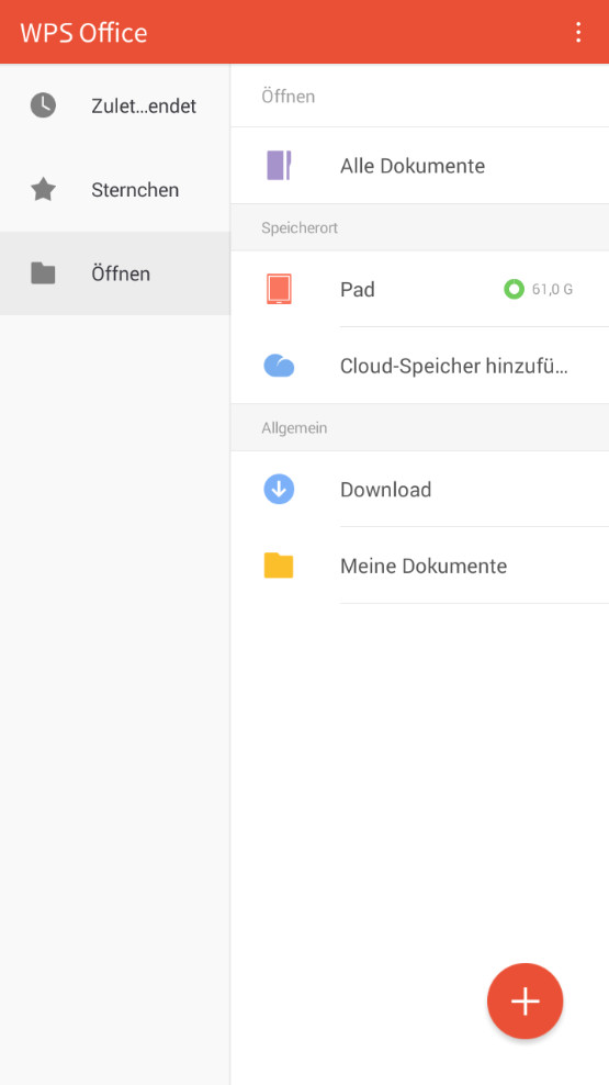 Screenshot 1 - WPS Office (Android-App)