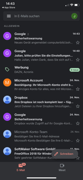 Gmail (App für iPhone & iPad)