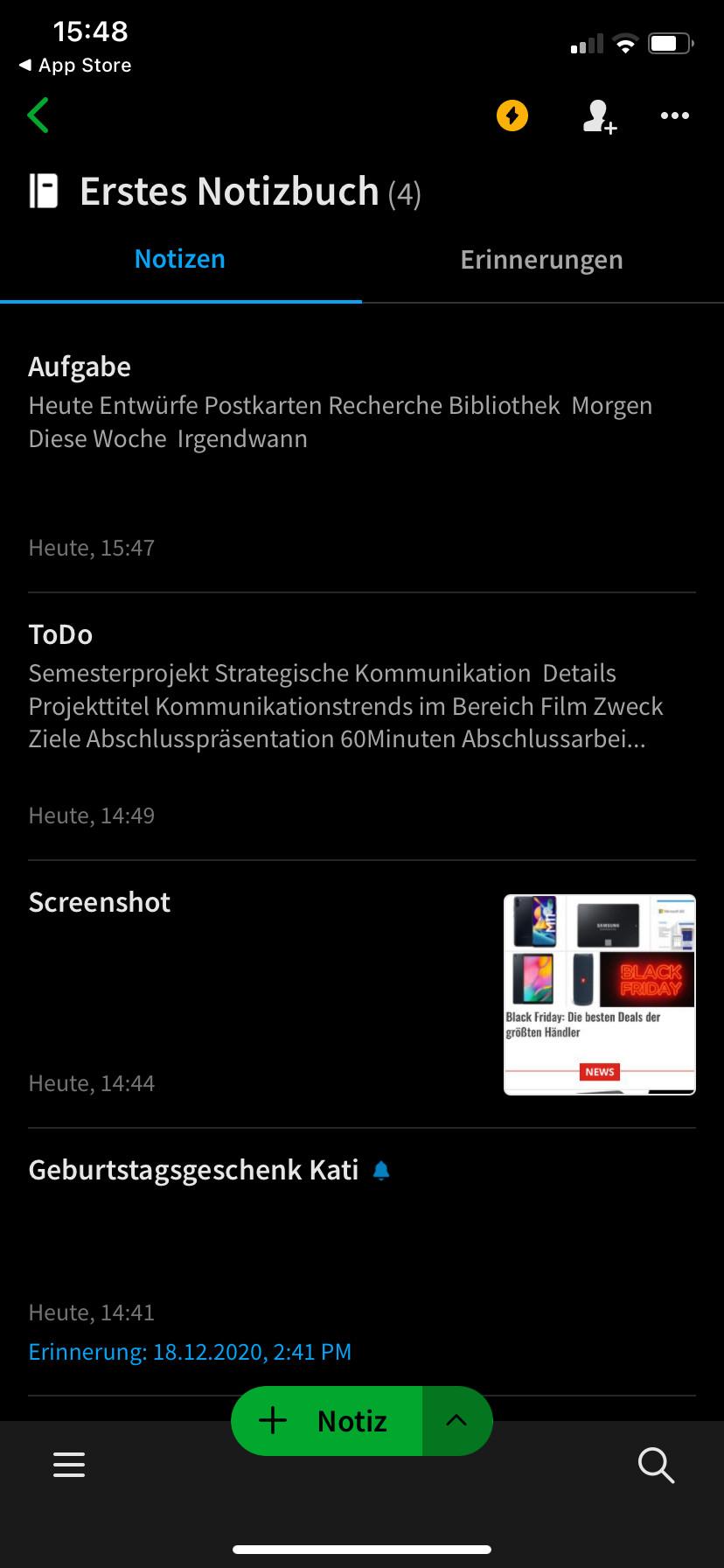 Screenshot 1 - Evernote (App für iPhone & iPad)