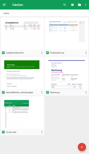 Google Tabellen (Android-App)