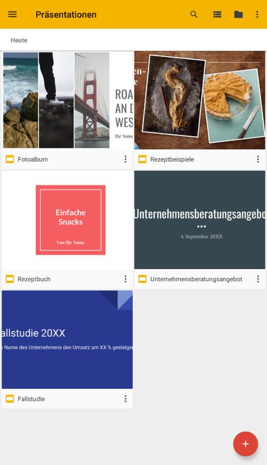 Screenshot 1 - Google Präsentationen (Android-App)