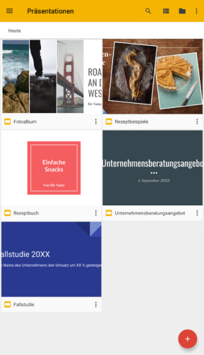 Google Präsentationen (App für iPhone & iPad)