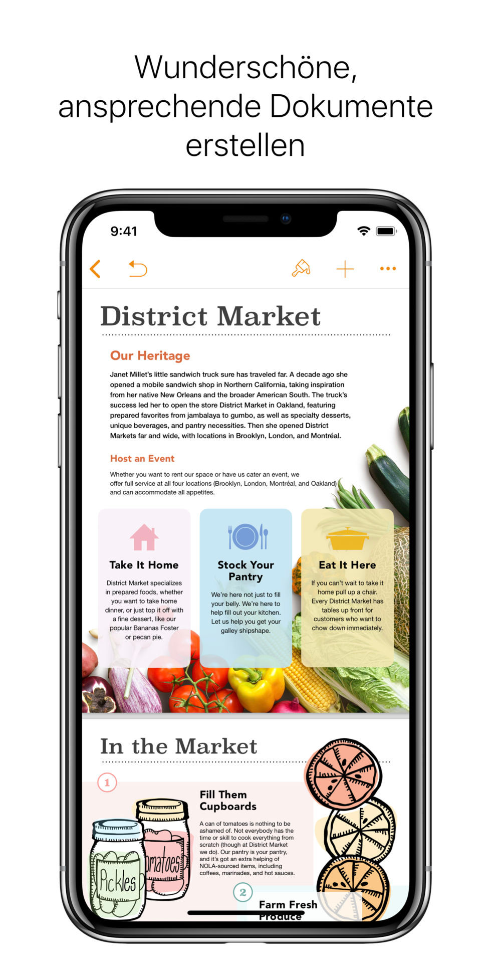 Screenshot 1 - Pages (App für iPhone & iPad)