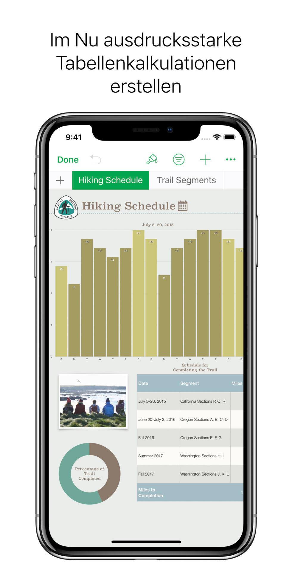 Screenshot 1 - Numbers (App für iPhone & iPad)