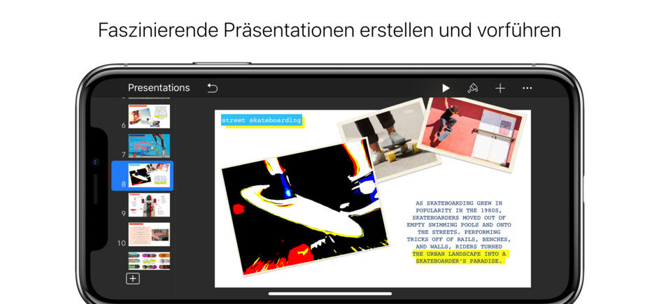 Screenshot 1 - Keynote (App für iPhone & iPad)
