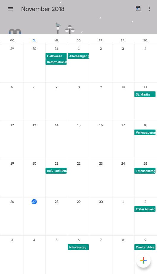 Screenshot 1 - Google Kalender (Android-App)