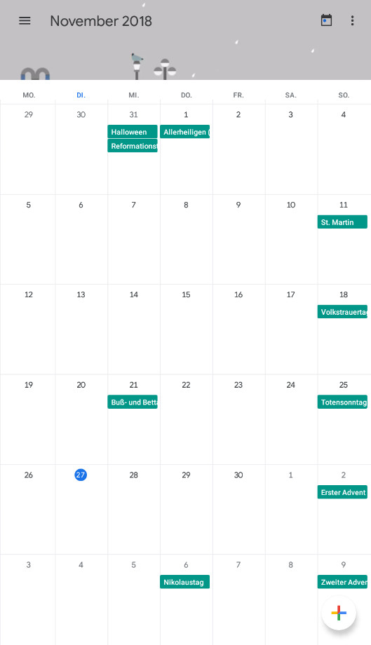Screenshot 1 - Google Kalender (App für iPhone & iPad)