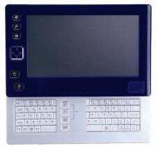 """Voll ausgefahren steht beim """"U60 Ultra mobile PC"""" eine komplette Tastatur zur Verfügung."""