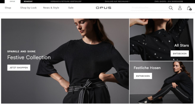 Opus-Modeeshop Gutschein © Screenshot www.opus-fashion.com