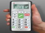 """Fitage pr�sentiert neues Mobiltelefon f�r Senioren Das """"Big Easy 2"""" l�sst sich dank extra gro�er Tasten auch von �lteren Menschen problemlos bedienen."""