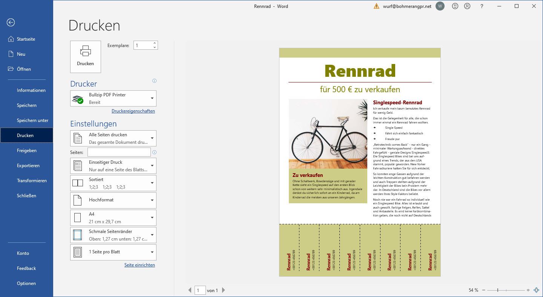 Screenshot 1 - BullZip PDF Printer