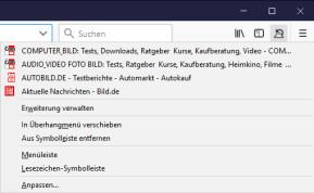Geschlossenen Tab wiederherstellen für Firefox