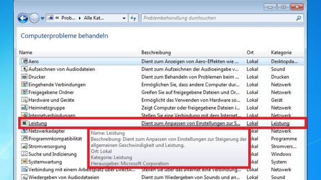 Windows 7: Leistungsprobleme beheben via Autostart-Tuning©COMPUTER ;BILD