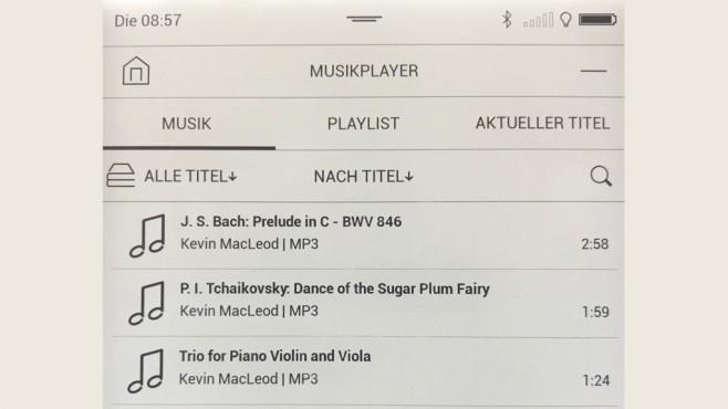 Audioplayer auf dem Pocketbook Touch HD 3©COMPUTER BILD
