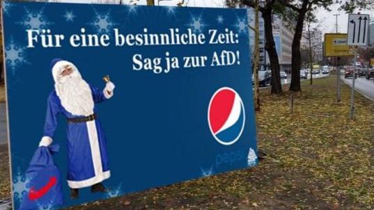 AFD Flasche leer: Pepsi distanziert sich von Partei Der Partei fehlt Humor. Ein Schenkelklopfer ist das manipulierte Bild nicht wirklich. Und auch Pepsi ist nicht wirklich amüsiert.©Twitter, Screenshot