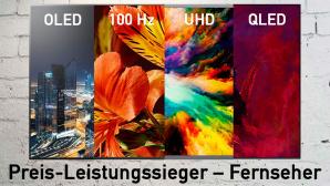 Fernseher Preis-Leistungssieger OLED QLED 4K 100 Hz©Pexels, LG, Samsung, Sony, Philips