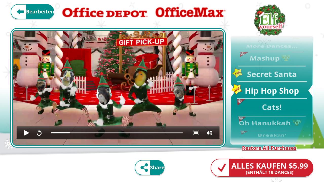 Screenshot 1 - ElfYourself (App für iPhone & iPad)