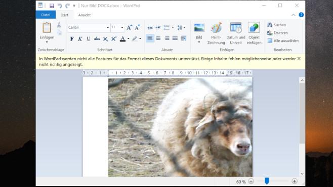 Windows-Test: WordPad öffnet DOC - und DOCX-Dateien – wie gut klappt das?©COMPUTER BILD