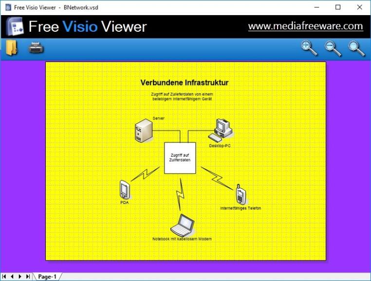 Screenshot 1 - Free Visio Viewer