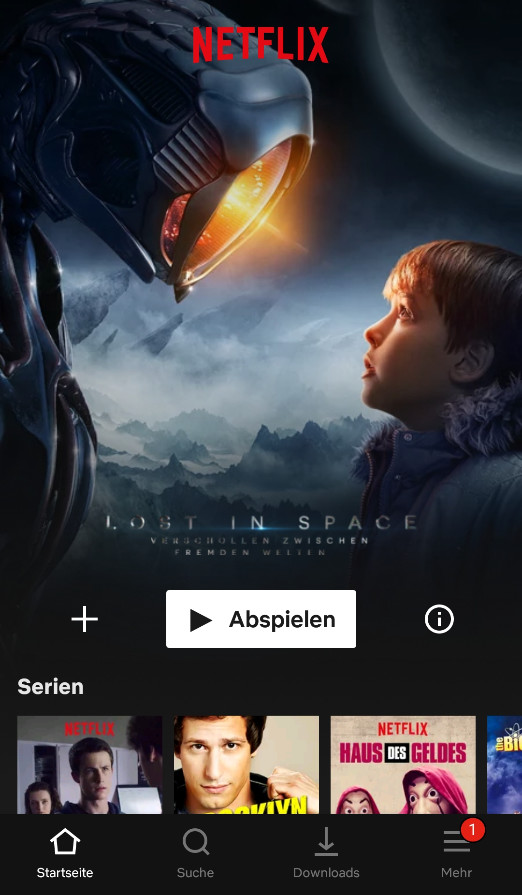 Screenshot 1 - Netflix (Android-App)