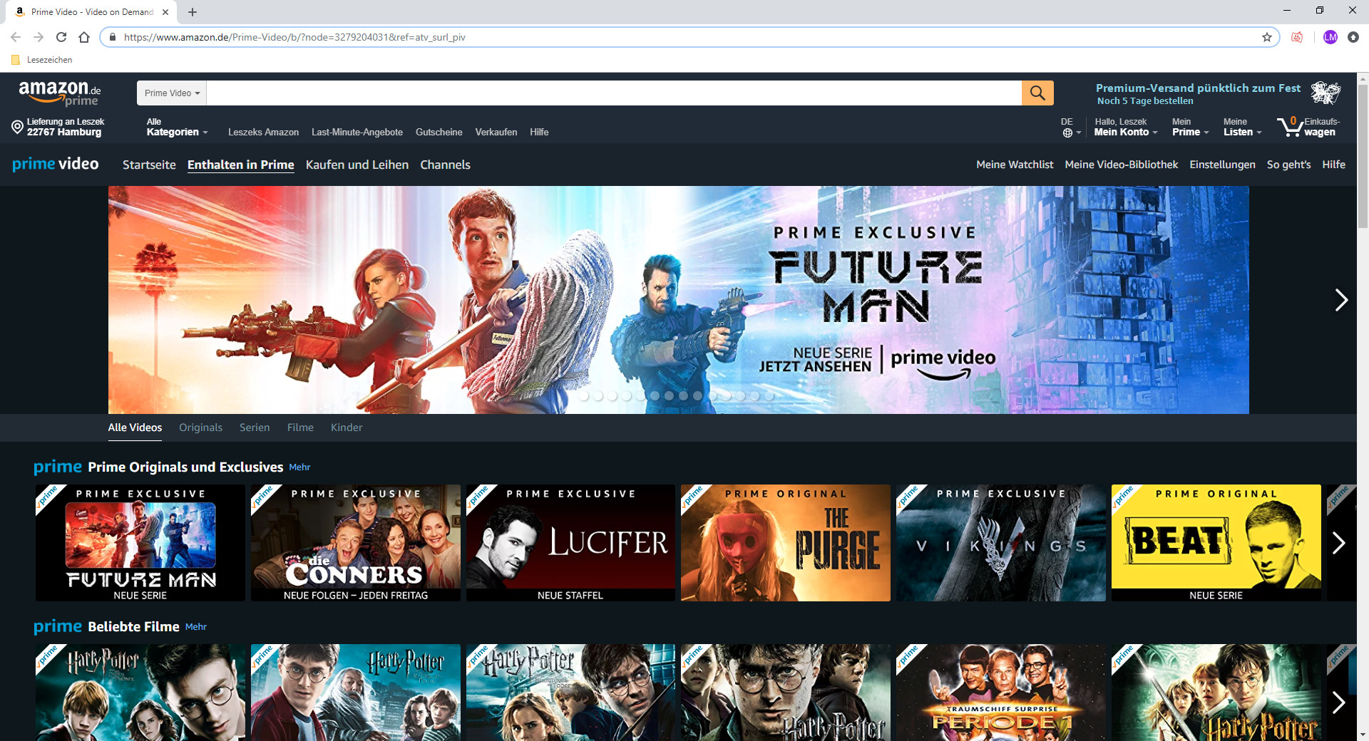 Screenshot 1 - Amazon Prime Video