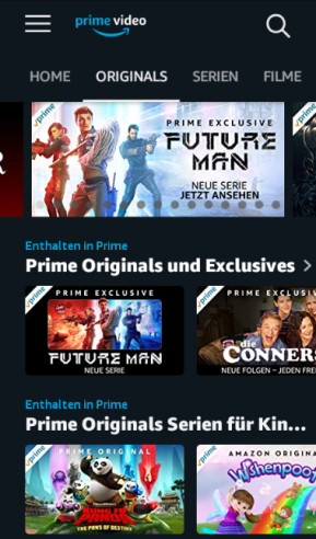 Amazon Prime Video (Android-App)