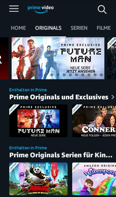 Screenshot 1 - Amazon Prime Video (App für iPhone & iPad)
