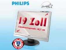 Schnäppchen beim Discounter: PHILIPS 19 Zoll Breitbild LCD-Monitor