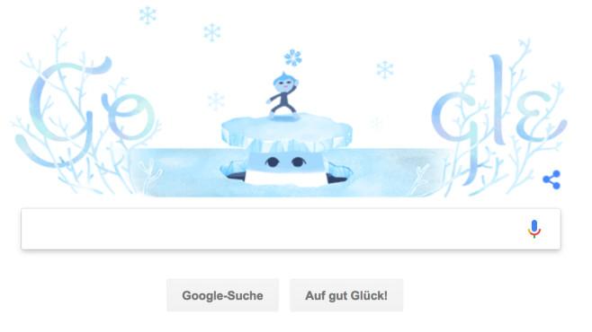 Google Doodle: Winteranfang©Google