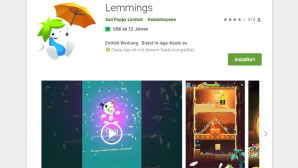 Lemmings-App im Google Play Store © Sad Puppy Limited / Play Store