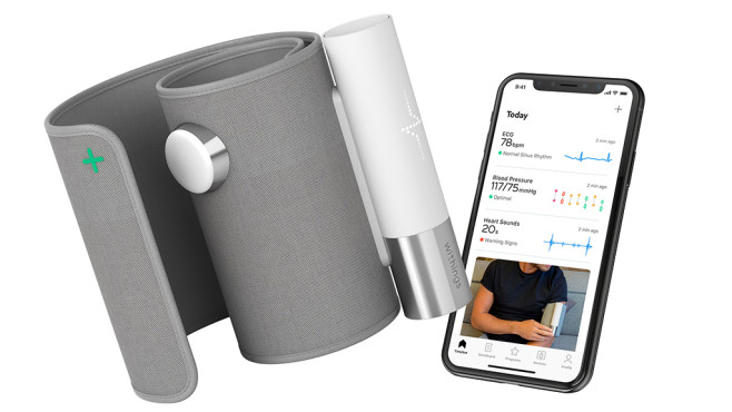Withings BPM Core und Withings Health App auf Smartphone © Withings