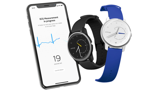 Withings Move ECG und Withings Health App auf Smartphone © Withings