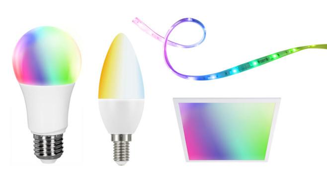 Tint Smart Light: Leuchten, Lichtsreifen und LED-Panel©Aldi, Müller Licht