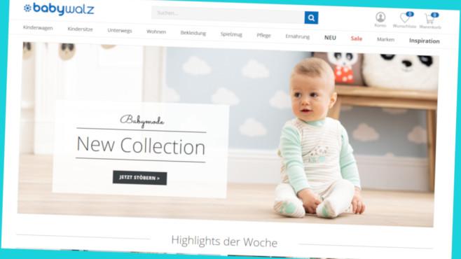 10 Prozent Rabatt bei Baby Walz©PR/Screenshot www.baby-walz.de