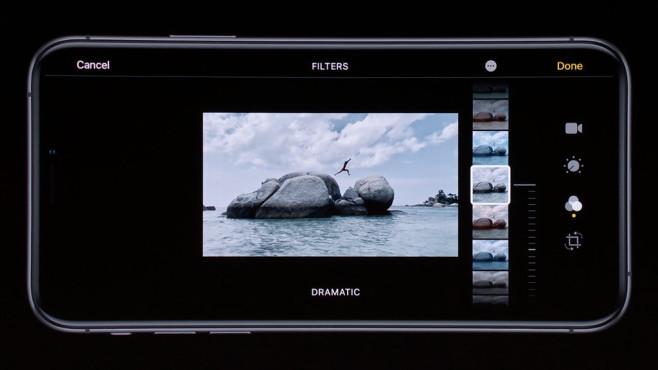 Apple iOS 13: Kamera-App mit Fotofiltern©Apple