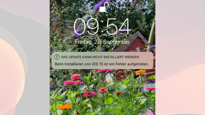 iOS 13 Update Probleme © Screenshot iPhone / Apple
