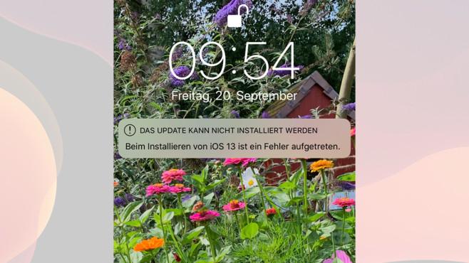 iOS 13 Update Probleme©Screenshot iPhone / Apple