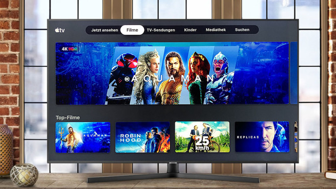 Samsung-Fernseher mit Apple TV App©COMPUTER BILD, Samsung