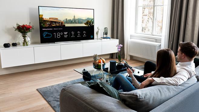 Alle neuen Fernseher von LG im Überblick: Jetzt wohnt Alexa in den TVs Die meisten LG-Fernseher verfügen über eine umfangreiche Sprachsteuerung: Mit LG-eigener Intelligenz für TV-Funktionen wie Senderwechsel und Filmsuche sowie mit Google und Alexa für Alltagsfragen und zur Smart-Home-Steuerung.©LG Electronics, COMPUTER BILD