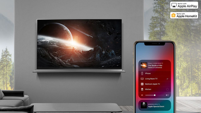 Die neuen Fernseher von LG jetzt mit Airplay 2: Von 4K bis 8K, OLED und LCD, Alexa und Google Assistant LG Fernseher mit Airplay 2 empfangen Videos besonders einfach von Apple-Geräten per WLAN.©LG Electronics