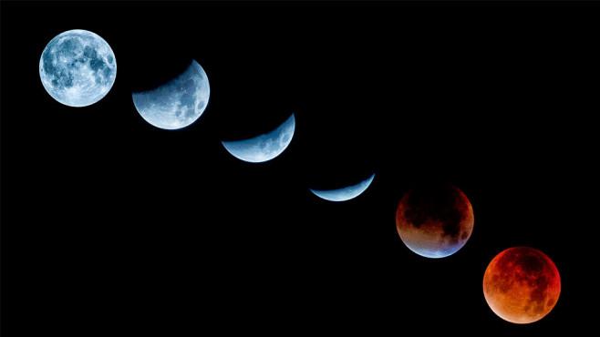 Mondphasen des Super-Blutmonds©iStock.com/1111IESPDJ