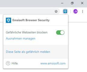 Emsisoft Browser Security für Chrome
